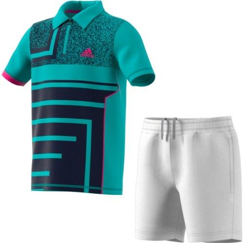 94031b49 Completo Tennis Junior ADIDAS SEASONAL POLO BOY DM5023 + BOYS CLUB SHORT  CV5902