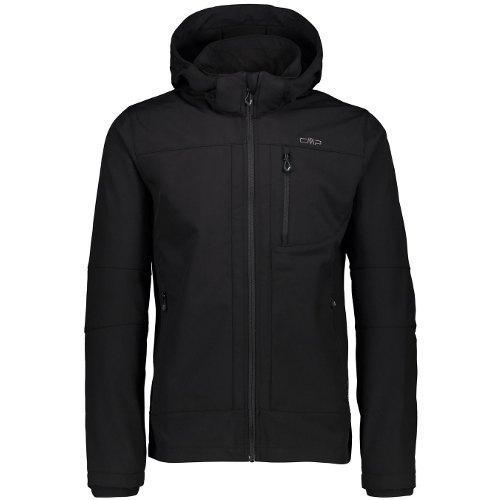 giacca trekking cmp softshell zip hood donna nera