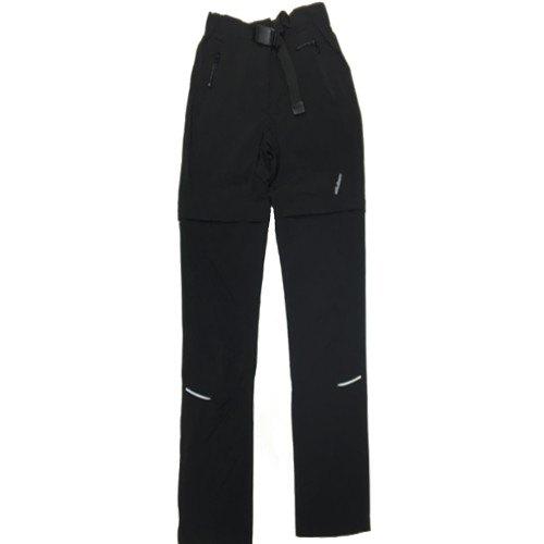 nuovo stile 15f4a 5b1de Pantaloni Staccabili Trekking Donna DUBIN DBS10W BLACK stretch