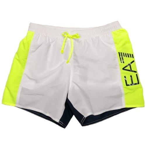 innovative design 0d702 59278 Pantaloncini da bagno EA7 EMPORIO ARMANI SEA WORLD BW CBLOCK 902023 8P734  21910 costume uomo boxer