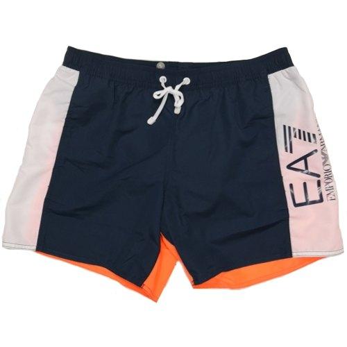 promo code 24b75 87c4d Pantaloncini da bagno EA7 EMPORIO ARMANI SEA WORLD BW CBLOCK 902023 8P734  50335 costume uomo boxer