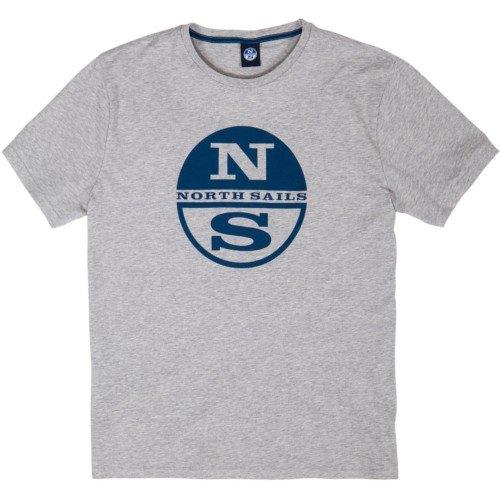 blu 698410 col North Sails maglione di cotone uomo girocollo art