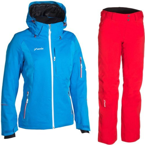 nuovo prodotto 02253 ac3a3 Completo Sci Donna Giacca Pantaloni PHENIX SNOW LIGHT JACKET ES682OT63 BL +  DIAMOND DUST WAIST PANTS ES682OB61 RD